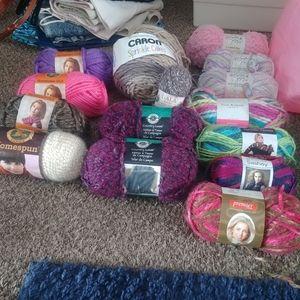Yarn Crafting Knit Crochet Lot